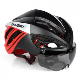 INBIKE Helm Sepeda MTB Ultralight Windproof Lens - MX-9 - Black/Red - 1