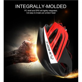 INBIKE Helm Sepeda MTB Ultralight Windproof Lens - MX-9 - Black/Red - 6