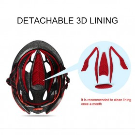 INBIKE Helm Sepeda MTB Ultralight Windproof Lens - MX-9 - Black/Red - 7