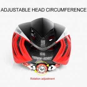 INBIKE Helm Sepeda MTB Ultralight Windproof Lens - MX-9 - Black/Red - 8