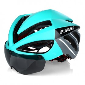 INBIKE Helm Sepeda MTB Ultralight Windproof Lens - MX-9 - Black/Green