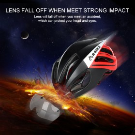INBIKE Helm Sepeda MTB Ultralight Windproof Lens - MX-9 - Black/Green - 5