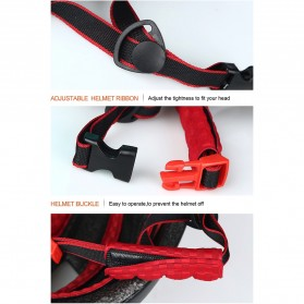 INBIKE Helm Sepeda MTB Ultralight Windproof Lens - MX-9 - Black/Green - 10