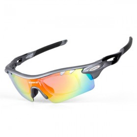 Fashion Wanita / Pria - INBIKE Kacamata Sepeda Polarized Sunglasses dengan 5 Lensa - IG16916 - Gray