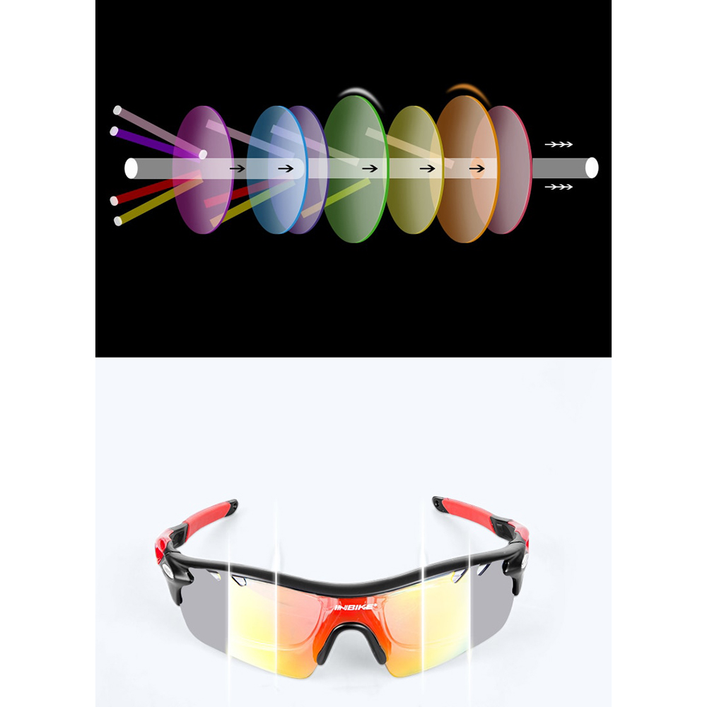 ... 6 INBIKE Kacamata Sepeda Polarized Sunglasses dengan 5 Lensa - IG16916  - Gray - 7 ... ccf418aefb