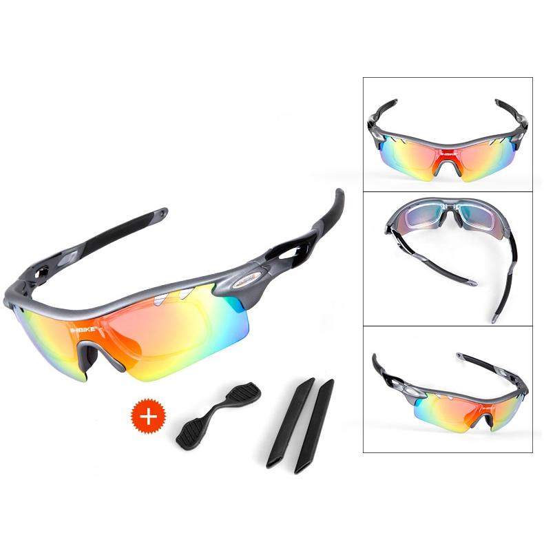 INBIKE Kacamata Sepeda Polarized Sunglasses dengan 5 Lensa - IG16916 - Gray  - 10 ... 8a3d50514f