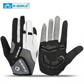 INBIKE Sarung Tangan Motor Full Finger Protektor Gel Pad Size XL - IF239 - Dark Gray