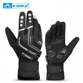 INBIKE Sarung Tangan Motor Full Finger Protektor Gel Pad Thermal Size L - GW969R - Black