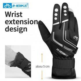 INBIKE Sarung Tangan Motor Full Finger Protektor Gel Pad Thermal Size XL - GW969R - Black - 3