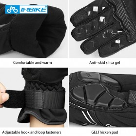 INBIKE Sarung Tangan Motor Full Finger Protektor Gel Pad Thermal Size XL - GW969R - Black - 5