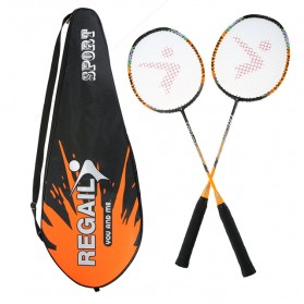 REGAIL Raket Badminton Carbon Fiber 2 PCS - 8019 - Orange