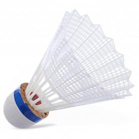 REGAIL Kok Badminton Plastic Shuttlecock 6 PCS - White - 4