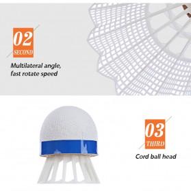 REGAIL Kok Badminton Plastic Shuttlecock 6 PCS - White - 6