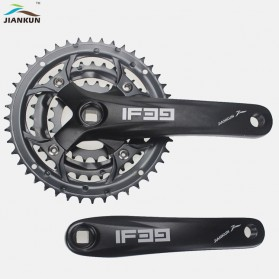 JIANKUN Gigi Crank Sprocket Sepeda Aluminium 22T 32T 44T 7/8/9 Speed - IF39 - Black