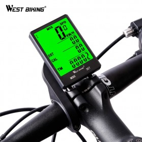West Biking Speedometer Sepeda LCD 2.8 Inch Waterproof - B2-1-20 - Black