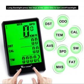 West Biking Speedometer Sepeda LCD 2.8 Inch Waterproof - B2-1-20 - Black - 2