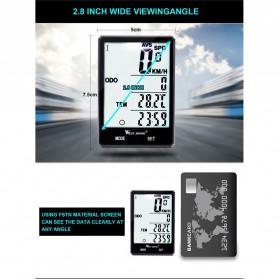 West Biking Speedometer Sepeda LCD 2.8 Inch Waterproof - B2-1-20 - Black - 3