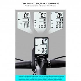 West Biking Speedometer Sepeda LCD 2.8 Inch Waterproof - B2-1-20 - Black - 6