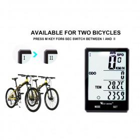West Biking Speedometer Sepeda LCD 2.8 Inch Waterproof - B2-1-20 - Black - 7