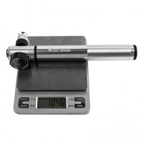 West Biking Pompa Angin Ban Sepeda Portable 300PSI with Pressure Gauge Barometer - Black - 7