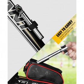 West Biking Pompa Angin Ban Sepeda Portable 300PSI with Pressure Gauge Barometer - Black - 8