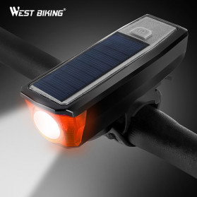 WEST BIKING Lampu Klakson Sepeda Solar & USB Power Waterproof - YP070 - Black