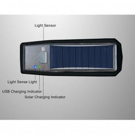 WEST BIKING Lampu Klakson Sepeda Solar & USB Power Waterproof - HJ-052 - Black - 9