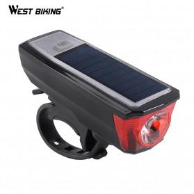 WEST BIKING Lampu Klakson Sepeda Solar & USB Power Waterproof - HJ-052 - Black - 2