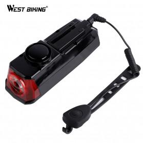 WEST BIKING Lampu Klakson Sepeda Solar & USB Power Waterproof - HJ-052 - Black - 3