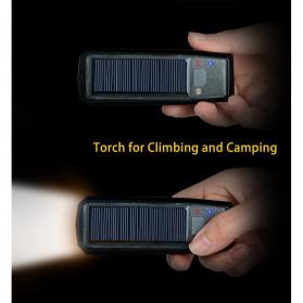 WEST BIKING Lampu Klakson Sepeda Solar & USB Power Waterproof - HJ-052 - Black - 5