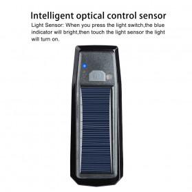 WEST BIKING Lampu Klakson Sepeda Solar & USB Power Waterproof - HJ-052 - Black - 6