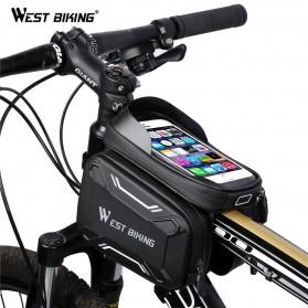 WEST BIKING Tas Sepeda Handlebar Smartphone Screen Touch Waterproof - YP0707 - Black