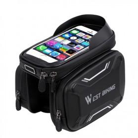 WEST BIKING Tas Sepeda Handlebar Smartphone Screen Touch Waterproof - YP0707 - Black - 2