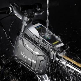 WEST BIKING Tas Sepeda Handlebar Smartphone Screen Touch Waterproof - YP0707 - Black - 4