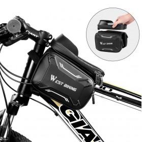 WEST BIKING Tas Sepeda Handlebar Smartphone Screen Touch Waterproof - YP0707 - Black - 5