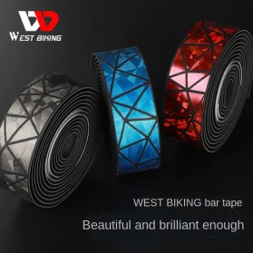 WEST BIKING Tape Stang Sepeda Bandage Sweat Absorb Metal Gradient - GH1 - Black - 2