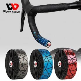 WEST BIKING Tape Stang Sepeda Bandage Sweat Absorb Metal Gradient - GH1 - Black - 3