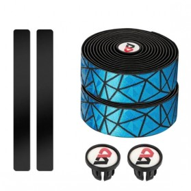 WEST BIKING Tape Rider Stang Sepeda Bandage Sweat Absorb Metal Gradient - Black - 4