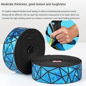 WEST BIKING Tape Stang Sepeda Bandage Sweat Absorb Metal Gradient - GH1 - Black - 6