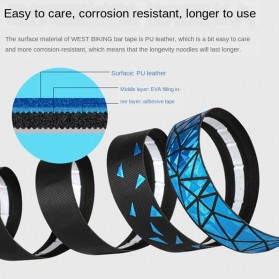 WEST BIKING Tape Stang Sepeda Bandage Sweat Absorb Metal Gradient - GH1 - Black - 7