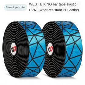 WEST BIKING Tape Rider Stang Sepeda Bandage Sweat Absorb Metal Gradient - Black - 8