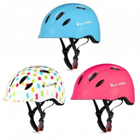 WEST BIKING Helm Sepeda Anak Bicycle Scooter Riding Helmet Protective Gear Size S - White - 2