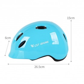 WEST BIKING Helm Sepeda Anak Bicycle Scooter Riding Helmet Protective Gear Size S - White - 6