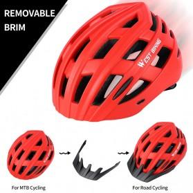 WEST BIKING Helm Sepeda Cycling Bike Helmet - TK-YP07 - Black - 3