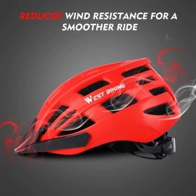 WEST BIKING Helm Sepeda Cycling Bike Helmet - TK-YP07 - Black - 4