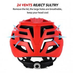 WEST BIKING Helm Sepeda Cycling Bike Helmet - TK-YP07 - Black - 5