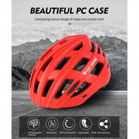 WEST BIKING Helm Sepeda Cycling Bike Helmet - TK-YP07 - Black - 6