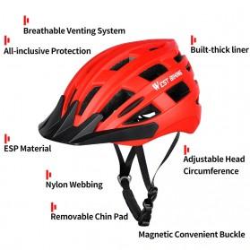 WEST BIKING Helm Sepeda Cycling Bike Helmet - TK-YP07 - Black - 7