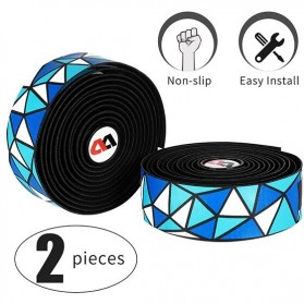 West Biking Hand Grip Bar Tape Sepeda PU EVA 2Roll - YP0804045 - Blue/White