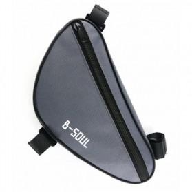 B-SOUL Tas Sepeda Segitiga Nylon Waterproof - YA191 - Black/Blue - 2
